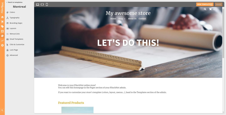 FlinchNot ecommerce CMS screenshot